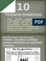 10 titulares historicos