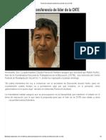 13-10-16 Pavlovich Solicitará Transferencia de Líder de La CNTE. - La Jornada