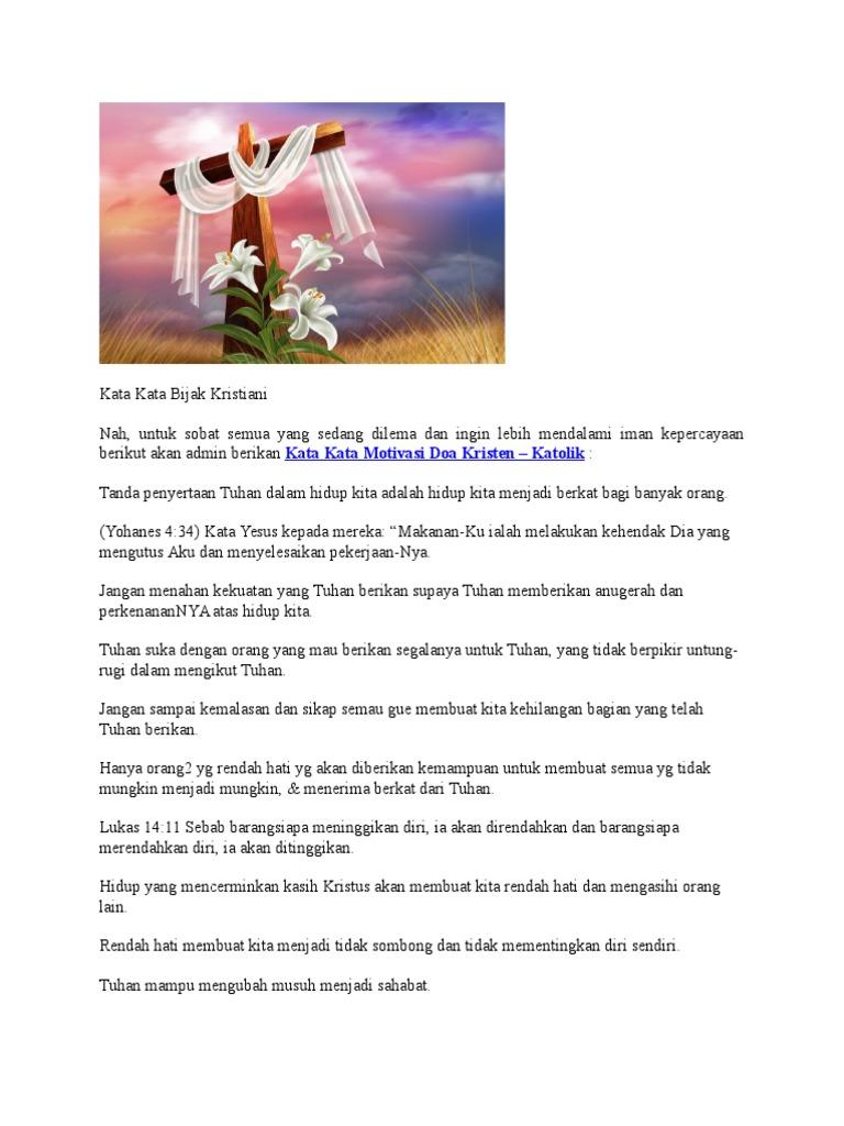 Kata Kata Bijak Kristiani Docx