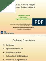 The 2011 ICP Asia Pacific Regional Advisory Board