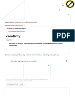 """Creativity definition"" by Cambridge"