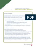 Pilot Project Application