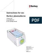 Barkey Plasmatherm - Use Manual