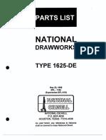 1625-De Dwks Parts List