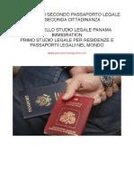 Ottenere il Secondo Passaporto Legale