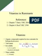 Vitamin in Ruminants Nutrition