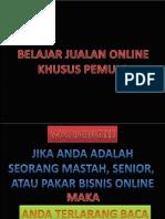 Belajar Jualan Online Khusus Pemula