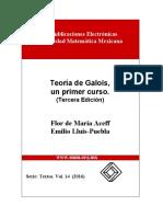 Aceff, Lluis-Puebla - Teoría de Galois, Un Primer Curso. (Tercera Edición)