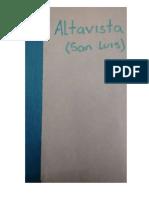 Historia Vereda Altavista San Luis Antioquia