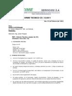 CS-12- 0011 Tienda INEN Cod 132 Informe