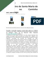 O Mosteiro de Santa Maria de Bouro No Caminho de Santiago - Artur Filipe Dos Santos