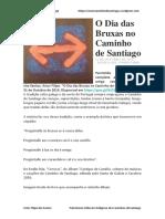 O Dia Das Bruxas No Caminho de Santiago - Artur Filipe Dos Santos