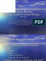 Lecture 1 the Concept of Surface Mining