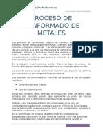 9no Trabajo - Conformado de Metales