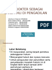 peran dokter sebagai saksi ahli.pptx