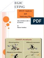 SWOT and Marketing Plan