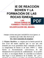 9 Clase 2 Las Rocas Igneas. Serie de Bowen. Unidad IV