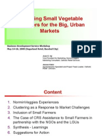 Clustering Small Vegetable Producers for the Big, Urban Markets