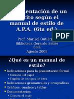6ta Ed Documentacion de Un Escrito Segun El Manual de Apa Ago 09 1