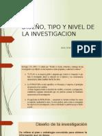 Diseño, Tipo y Nivel de La Investigacion
