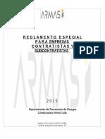 Doc.pdr.004 Reglamento Especial Para Empresas Contratistas y Sub Contratista de Empresas Armas Ltda.