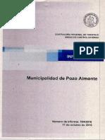 Informe Municipalidad de Pozo Almonte - Auditoría Al Gasto en Periodo Electoral