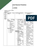 coursework unit planner- classification