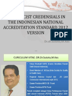 Pharmacist Credensials in the Indonesia Accreditation Standard 2012 Version Bali 2016 August