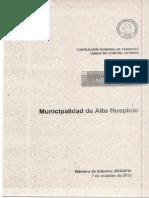 Informe Municipalidad de Alto Hospicio- Auditoría Al Gasto en Periodo Electoral