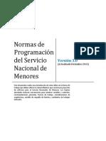 Normas de Programación Del Servicio Nacional de Menores - Versión