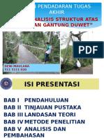 presentasi Pendadaran Tugas Akhir Jembatan Duwet