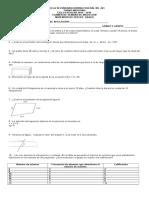 Examen Inducción Tercero.Matemáticas