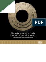 Memorias y Actualidad en La Educacion Especial de México