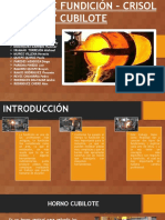 Hornos de Fundición Crisol y Cubilote