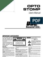 Opto Stomp Manual
