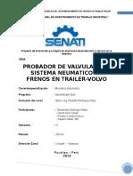 Probador de Valvulas Del Sistema Neumatico de Frenos en Trailer-Volvo