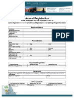Animal - Registration Form