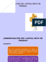Adm Del Capital Neto de Trabajo