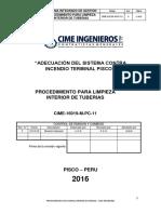 Cime-16019-M-pc-11, Procedimiento Para Limpieza de Interna de Tuberias
