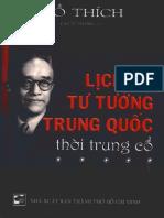 Lịch Sử Tư Tưởng Trung Quốc Thời Trung Cổ - Hồ Thích