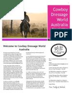 Cowboy Dressage Australia Newsletter Oct 2016 Issue #1