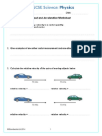 Boardworks Speed and Acceleration Worksheet