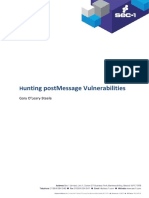 Hunting postMessage Vulnerabilities