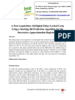A Fast-Acquisition All-Digital Delay-Locked Loop Using a Starting-Bit Prediction Algorithm for the Successive-Approximation Register