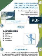 REVISIÓN Y ANÁLISIS DE LOS PRINCIPALES RIESGOS DE FALLA DETECTADOS EN LAS INSPECCIONES DE SEGURIDAD DE PRESAS