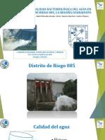 ANÁLISIS DE LA CALIDAD BACTERIOLÓGICA DEL AGUA EN EL DISTRITO DE RIEGO 085, LA BEGOÑA GUANAJUATO