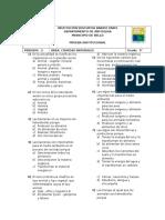 EXAMEN DE CIENCIAS NAT. TIPO ICFES 9°