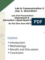 Lab Oral Presentation II YEW ZHEN XUAN