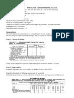 Mix Design to ACI 211.1-91 and BRE