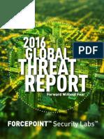 Forcepoint 2016 Global Threat Report En